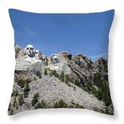 Mount Rushmore Full View Throw Pillow