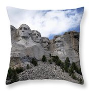 Mount Rushmore National Monument -2 Throw Pillow