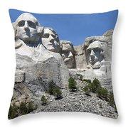Mount Rushmore Vertical Throw Pillow