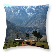 1941 Willys Week End Project Under Mount San Jacinto  Throw Pillow