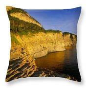 Mount St Alban Cliffs At Sunset Throw Pillow