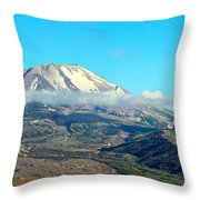 Mount St Helens And Castle Lake Throw Pillow