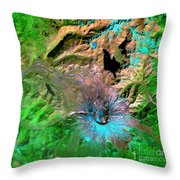 Mount St. Helens Throw Pillow