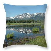 Mount Tallac Sky Projections Throw Pillow