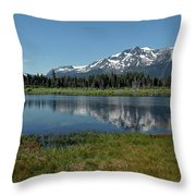 Mount Tallac View Of The Cross Throw Pillow