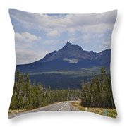 Mount Thielsen Throw Pillow