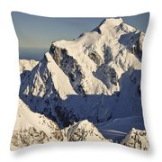 Mount Tutoko At Dawn Hollyford Valley Throw Pillow by Colin Monteath