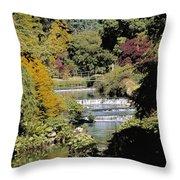 Mount Usher Gardens, River Vartry, Co Throw Pillow