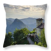 Mountain Bre Throw Pillow