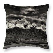 Mountain Canmore Throw Pillow