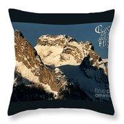 Mountain Christmas Austria Europe Throw Pillow