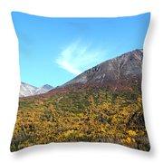 Mountain Colors Throw Pillow