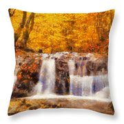 Mountain Creek Falls Throw Pillow