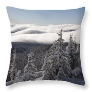 Mountain During Winter Throw Pillow