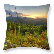 Mountain Evening Throw Pillow
