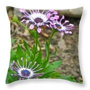 Mountain Floral Throw Pillow