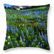 Mountain Garden Throw Pillow