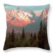 Mountain Glow Throw Pillow