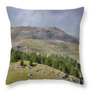 Mountain In St Moritz Throw Pillow