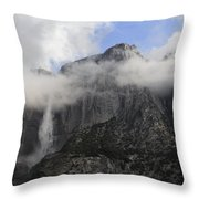 Mountain In The Clouds Throw Pillow