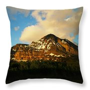 Mountain In The Morning Throw Pillow