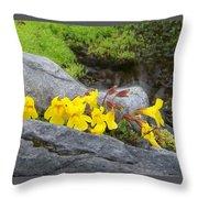 Mountain Monkey Flower Throw Pillow