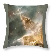 Mountain Of Cold Hydrogen Throw Pillow