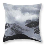 Mountain Panoramic In Winter, Spray Throw Pillow