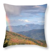 Mountain Rainbow Throw Pillow