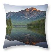 Mountain Reflection, Pyramid Mountain Throw Pillow