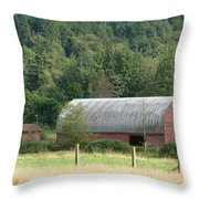 Mountain Side Farm Throw Pillow