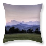 Mountain Sunset - North Carolina Landscape Throw Pillow