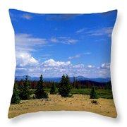 Mountain Top Landscape II Throw Pillow