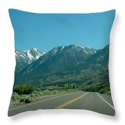 Mountains Ahead Throw Pillow