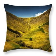 Mountains And Hills Throw Pillow