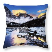 Mountains In The Winter Throw Pillow