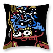 Mouthful Full Color Throw Pillow