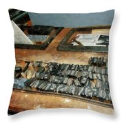 Movable Type Throw Pillow