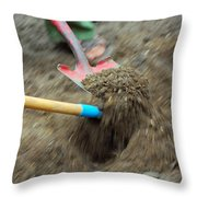 Movement Of The Earth Throw Pillow