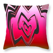 Moveonart Abstractheart Throw Pillow