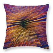 Moving Abstract Lights Throw Pillow