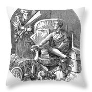 Moving Day, 1870 Throw Pillow
