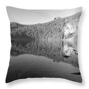 Mowich Lake Mono Print Throw Pillow