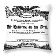 Mozart: Seraglio, 1782 Throw Pillow