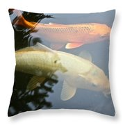 Mr And Mrs Koi Throw Pillow
