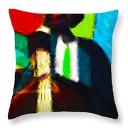 Mr. Bassman Throw Pillow