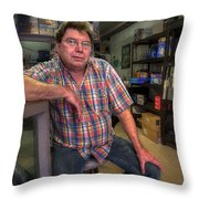 Mr. Watson In Repose Throw Pillow