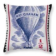 Mrs Graham The Balloonist Throw Pillow