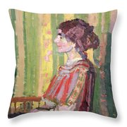 Mrs Robert Bevan Throw Pillow