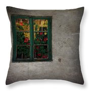 Mrs Roses Wall Throw Pillow